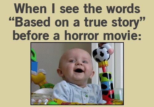 LOL THAT'S ME - im not a fan scary movies but this was funny! and its true the ones i have seen..