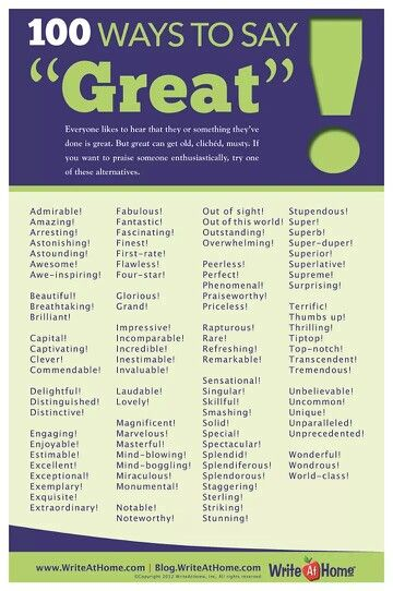 "Ways to say ""Great"""