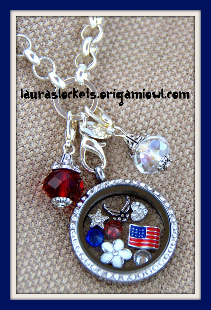 Show your Air Force Pride!  http://lauraslockets.origamiowl.com  Perfect for the women who serve proudly in the Air Force, and proud Air Force wives, girlfriends and moms.