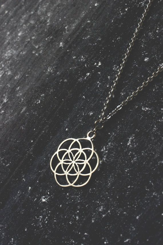 Ananke Jewelry Sacred geometry jewelry, Seed of life, minimal necklace, geometric necklace, mandala necklace, flower of life, everyday necklace, boho necklace, hippie necklace, gift ideas, spiritual necklace, minimalist, etsy finds