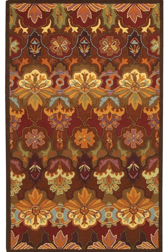 Orange Blossom Area Rug 100 Hand Hooked Wool Homedecorators