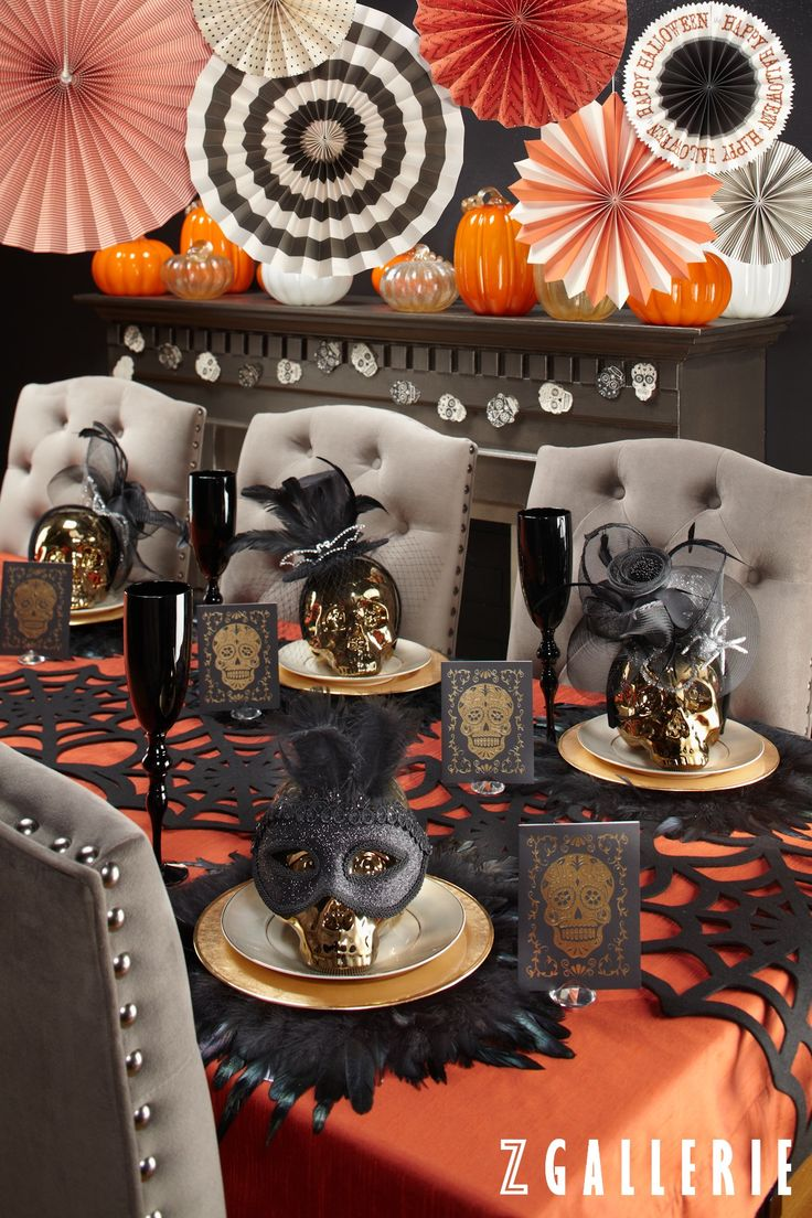 Halloween table decorations to make - We Re Teaming Up With Papersource To Make Your Halloween Haute Take 20