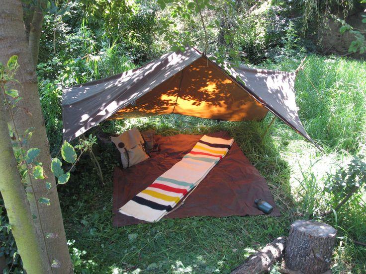 Oilskin Tarp in 2020 | Bushcraft shelter, Camping tarp ...