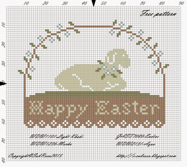 sub rosa: Húsvétra várva / Waiting for Easter - Free pattern