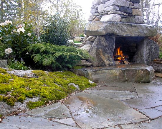Rustic outdoor fireplace for my non existent house - The kinder garden llc of kent island ...