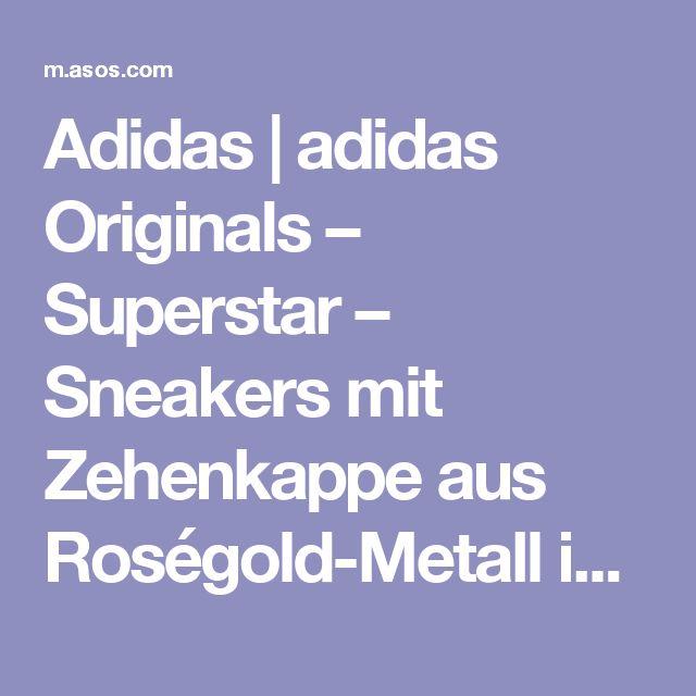Adidas | adidas Originals – Superstar – Sneakers mit Zehenkappe aus Roségold-Metall im Stil der 80-er