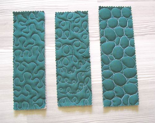 Easy curved stitching with free motion quilting