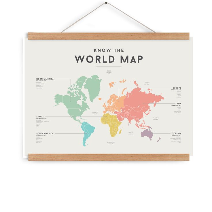 We are Squared - Know The World Map Poster - We Are Squared