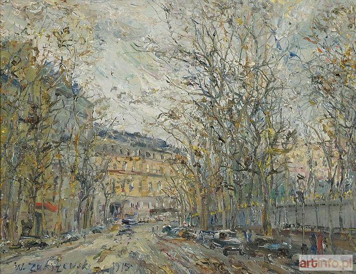 Włodzimierz ZAKRZEWSKI ● Paryż - Rue de Médicis przy Ogrodzie Luksemburskim, 1975 ●