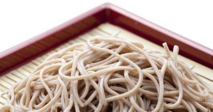 Soba means buckwheat in Japanese. Although some versions of soba noodles contain wheat, you can find soba noodles made with just buckwheat flour. These noodles, used in both hot and cold dishes, look like spaghetti but have a nuttier flavor. Nutritionally these noodles are similar to spaghetti, but they offer some additional benefits.