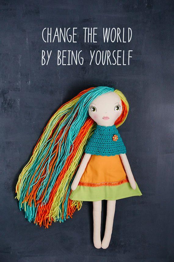 Louise handmade OOAK doll art doll cloth doll rag doll
