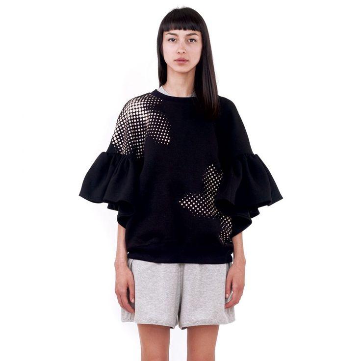 Daisy Black Sweatshirt • Ioana Ciolacu