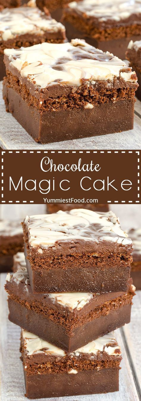 Chocolate Magic Cake with Chocolate Glaze and Swirl – moist, delicious, easy, nice and quick! This Chocolate Magic Cake with Chocolate Glaze and Swirl will be your ultimate dessert for every occasion!