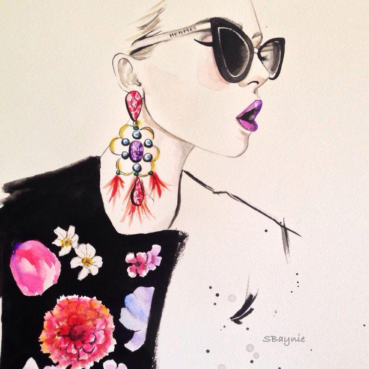 Stephanie Baynie Fashion Illustration - Hermes