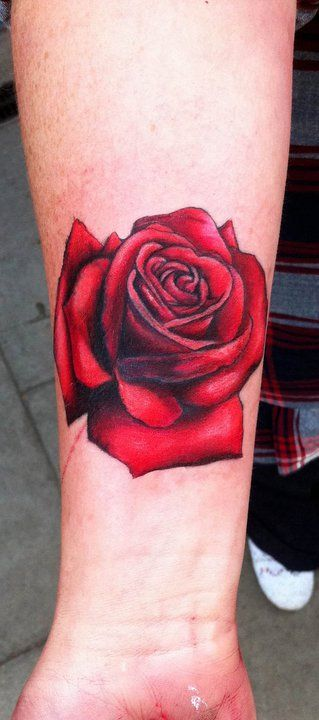 I want the roses on the side tattoo to look kinda like this with color. Yes r no?