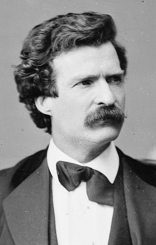 Mark Twain, crooked tie, I'd love to have traveled across Europe and The Holy Land with him. Pearls seemed to flow freely from his mouth and pen.