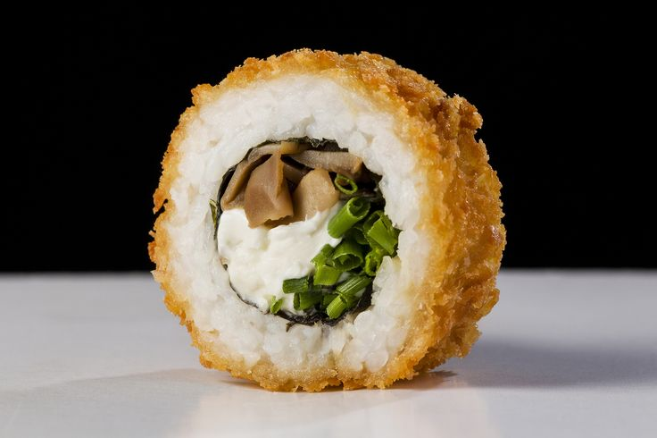 Sushi Roll - Chilean Sushi Roll - Champignon Ciboulette Cream Cheese in Panko breaded