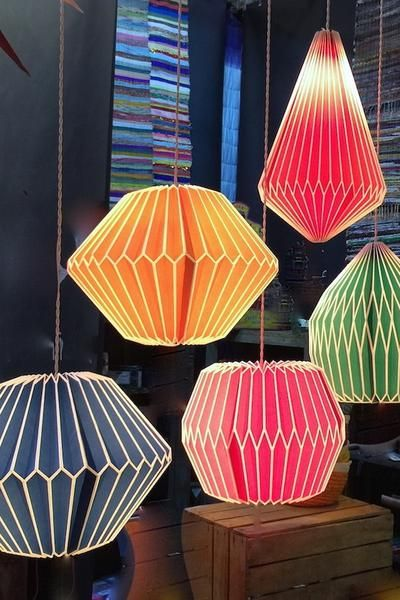 These are really funky, colourful, pleated pendant shades. These amazing pleated paper lampshade is come in 5 different colour ways. They are beautifully simple