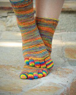 Downtown's Toe socks pattern by Downtown