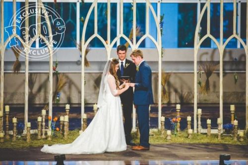 """keepingupwithfundies: """"A couple more shots from the Duggar Forsyth wedding. Soure: People """""""