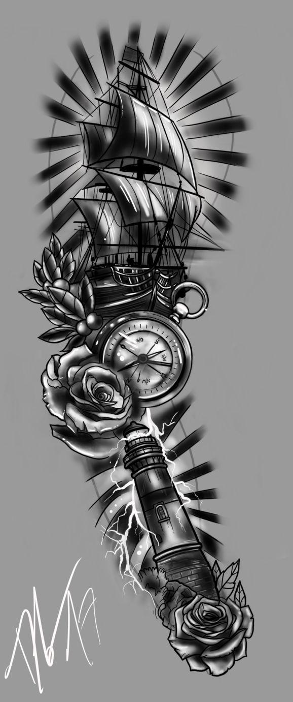 FULLSLEEVE Design – Storm and Sailor by StevenDureckArtworks