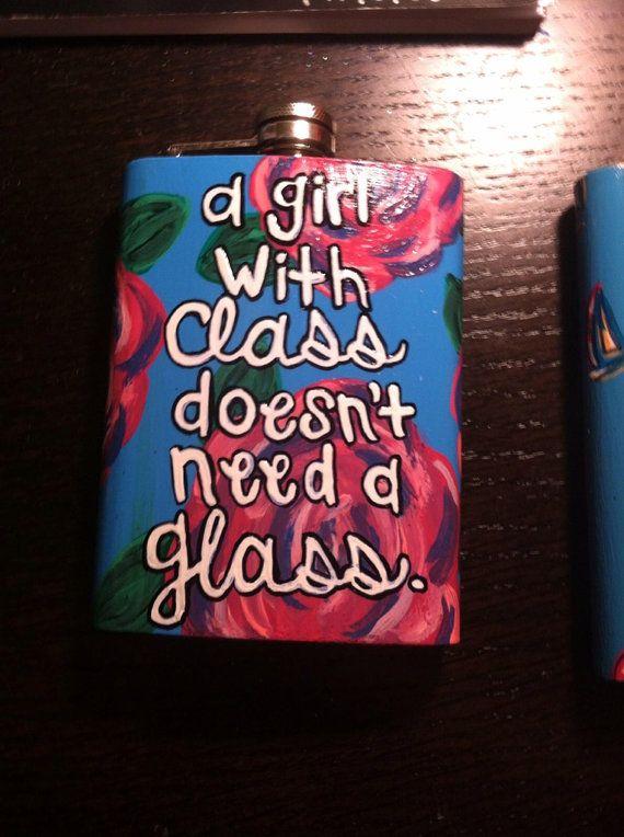 Custom 8oz Steel Flask by KatastropheMgmt on Etsy, $20.00