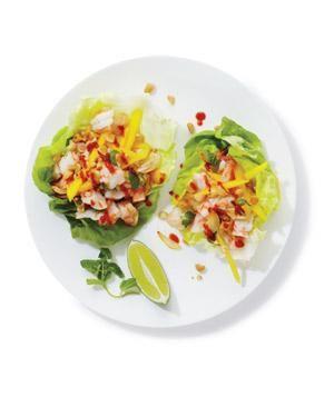 Shrimp and Mango Lettuce Wraps