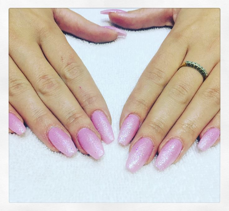 Pretty sparkly pink nails by Monika With manicure prices starting from just £15, what are you waiting for?! Call 02920461191 to book or enquire.  #simonconstantinou #nailart #nails #manicure #beautysaloncardiff #manicurecardiff #pinknails #glitter #sparkle