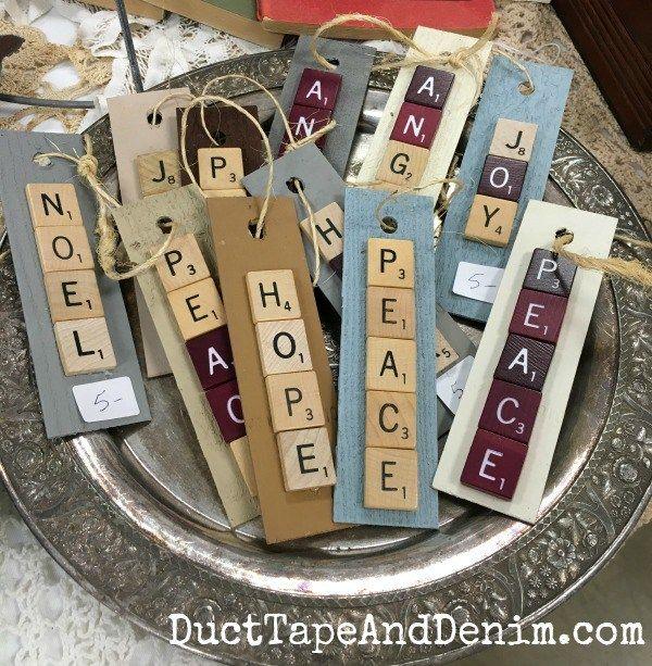 More Scrabble ornaments at Roses and Rust | DuctTapeAndDenim.com
