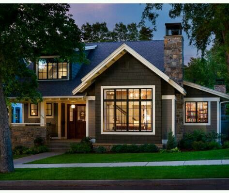 363 best images about curb appeal on pinterest portland for Modern craftsman house plans