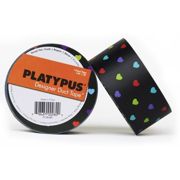 Platypus Designer Duct Tape, Painted Yellow Floral ($7.50) ❤ liked on Polyvore