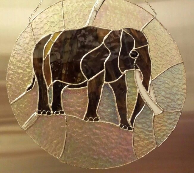 Elephant panel,  with decorative solder & wire!