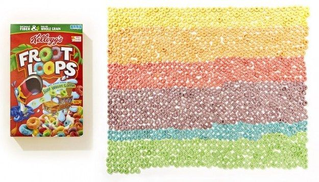 These Froot Loops that are better off outside the box. | 33 Impossibly Satisfying Food Photos