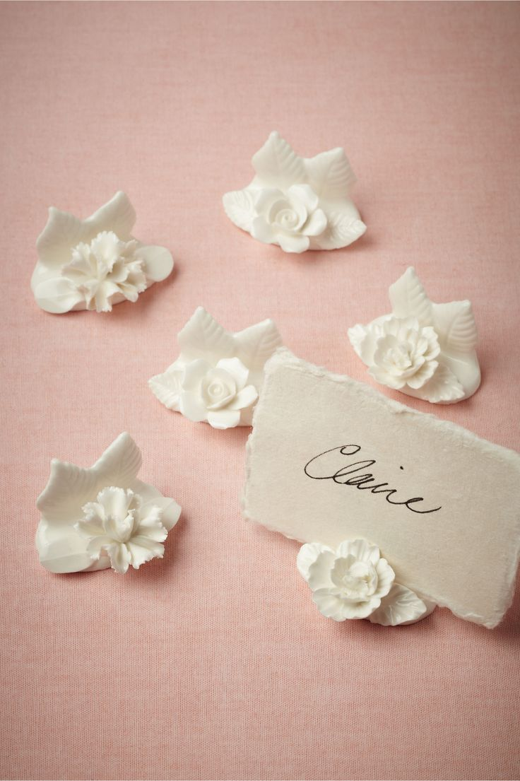 Wildbloom Place Card Holders From Bhldn I'm Getting Married In Hawaii, It  Would Only Be Appropriate To Have Floral Place Card Holders