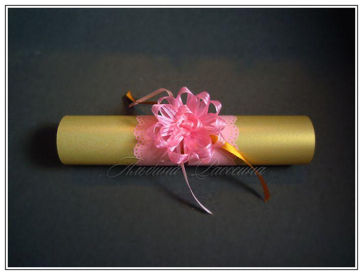 """♥ Приглашения на свадьбу. Стильная свадьба. Сайт дизайнера.: Золотой свиток """"Розовый цветок"""". Свадебные приглашения."""