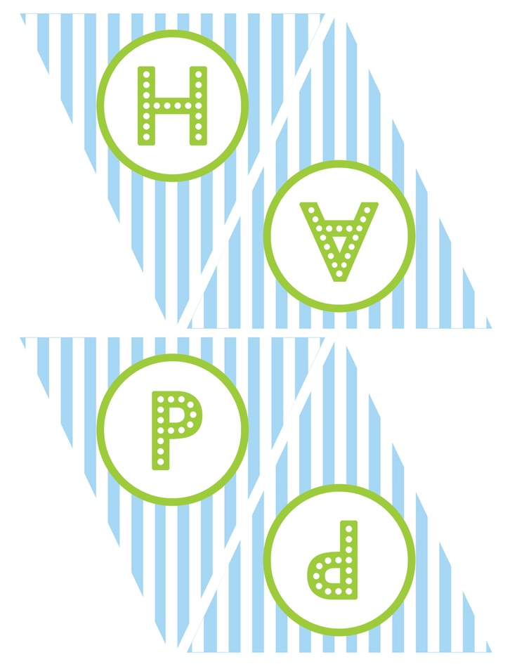 FREE Blue and Green (Boy) Birthday Printables from Green Apple Paperie