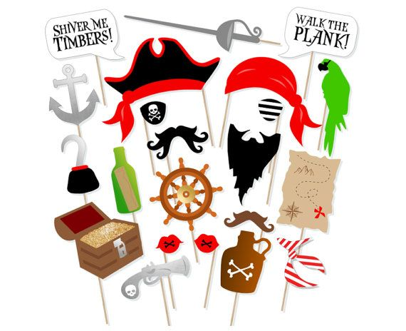 ★ This listing is for a DIGITAL FILE only. ★ ★ NO PHYSICAL ITEMS WILL BE SHIPPED. ★  Arrrr me hearties, tis time to break out the props for