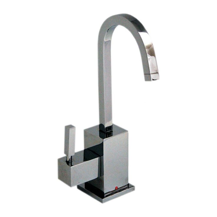 qhaus square design instant hot water dispenser with gooseneck spout and self closing
