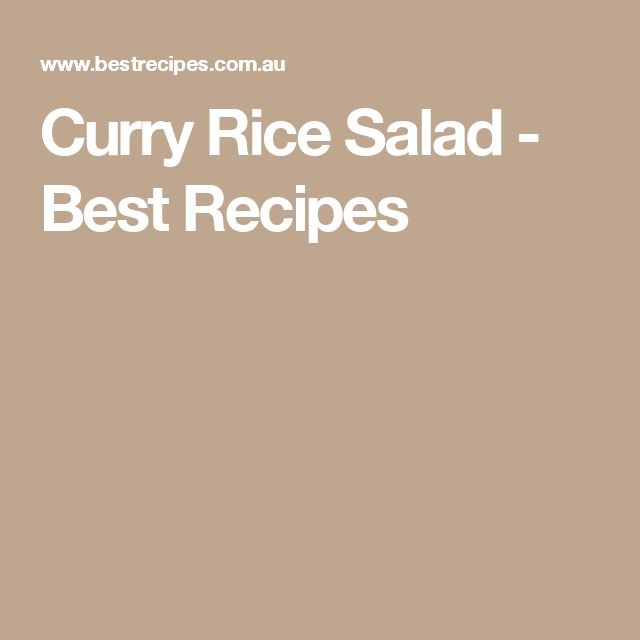 1000+ ideas about Reissalat Mit Curry on Pinterest | Rice Salad ...