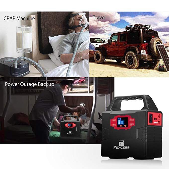 Amazon Com 100 Watt Portable Generator Power Station 40800mah 151wh Cpap Battery Pack Home Camping Emergen Portable Generator Power Station Emergency Power