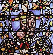 A small and much fragmented panel from a Jesse Tree window, at York Minster is thought to be the oldest surviving stained glass in England, dating from perhaps as early as 1150