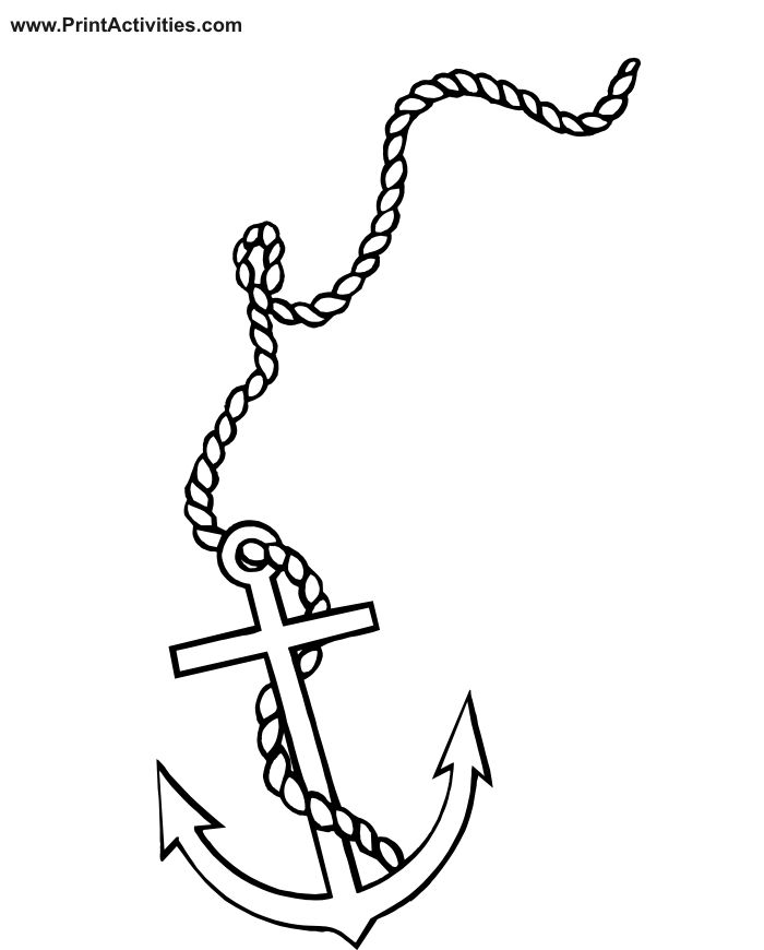 Boat Related Coloring Page Of An Anchor