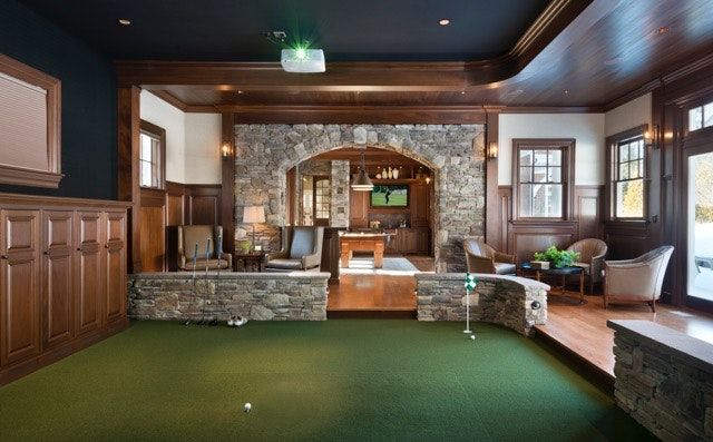 Sudbury Ma Game Room Golf Simulator Golf Simulators Golf Room Golf Simulator Room