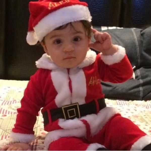 Bollywood's King Shahrukh Khan's youngest son AbRam as Santa Claus! too cute to handle!