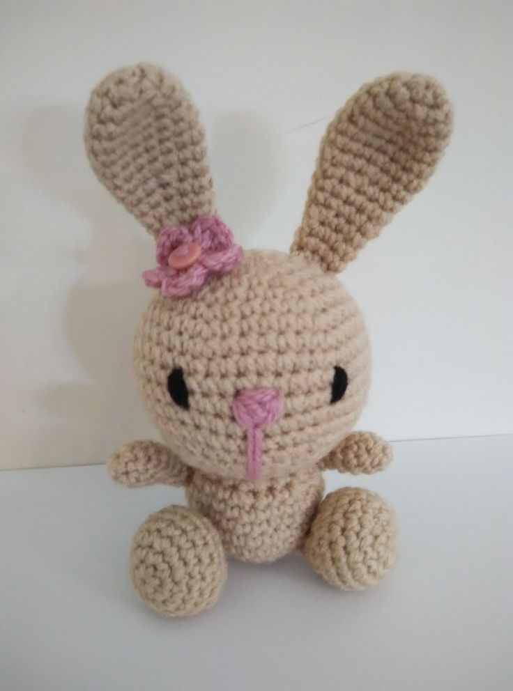 amigurumi cute bunny 18cm by yrozafcrocheting on Etsy