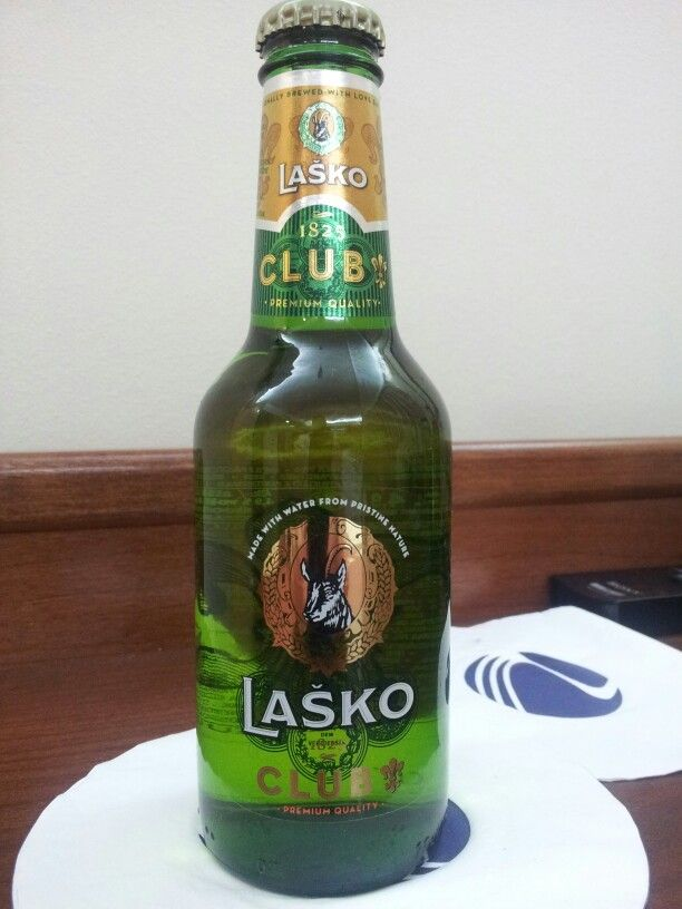 Lasko Club lager from Montenegro (4.9% abv)