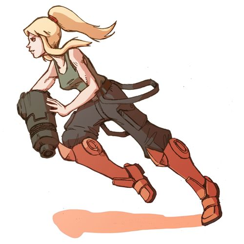 From what I can gather, this is Samus without any special suit