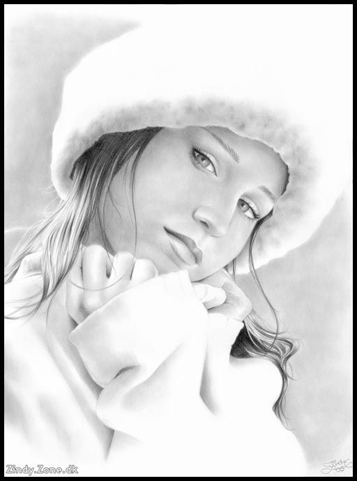 © Zindy S. D. Nielsen  - Kim - This is a commission drawing for a girl named Kim.  It's made with a HB and 2B pencil. (30x40cm)
