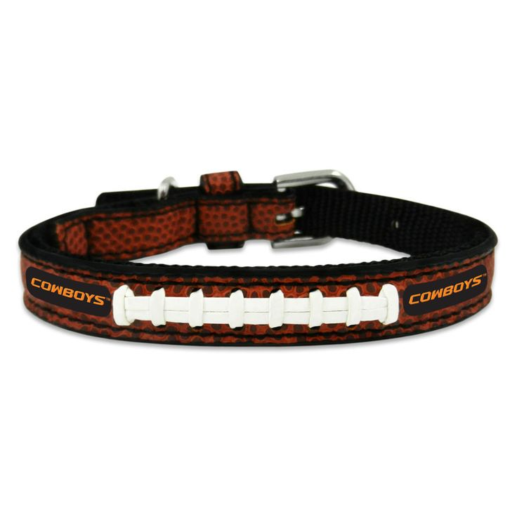 Oklahoma State Cowboys Football Game Ball Leather Pet Collar