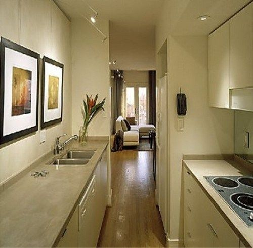 M s de 25 ideas incre bles sobre cocina estrecha en - Casas estrechas y largas ...